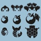 Pokemon Iconography Dark  by gallantdesigns