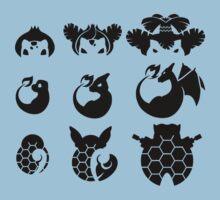 Pokemon Iconography Dark  by gallantdesigns