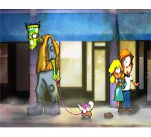 frankenstein: dog walker Photographic Print
