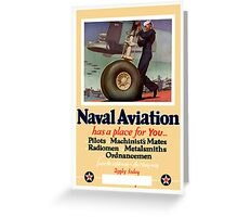 Naval Aviation Has A Place For You -- WWII Greeting Card