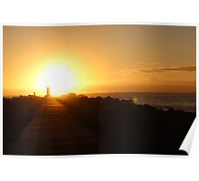 Sunrise - Gold Coast Seaway - QLD Poster