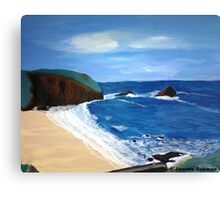 Cornish Tide - Acrylic Painting Canvas Print