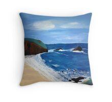 Cornish Tide - Acrylic Painting Throw Pillow