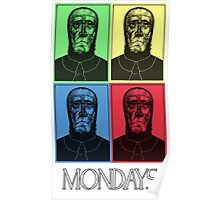 Mondays- In Color! Poster
