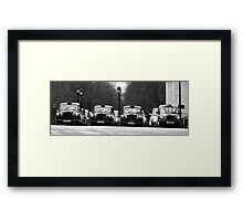 London Cabs Framed Print