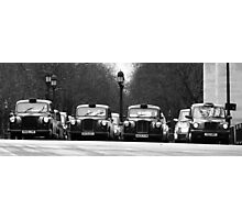 London Cabs Photographic Print