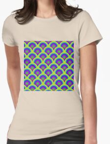 COLOUR CIRCLES Womens Fitted T-Shirt