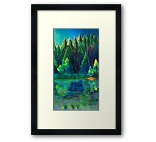 The Lake through a Prism Framed Print