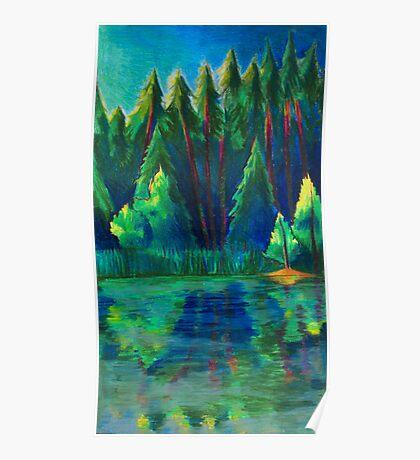The Lake through a Prism Poster
