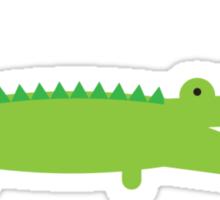 Green Alligator Sticker