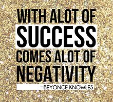Beyonce Quote Glitter by The RealDealBeal