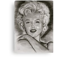 Marilyn in black and white Canvas Print