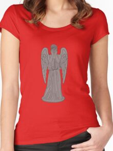 Single Weeping Angel Women's Fitted Scoop T-Shirt