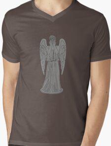 Single Weeping Angel Mens V-Neck T-Shirt