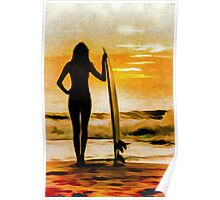 Surfer Girl - Venice Beach Poster