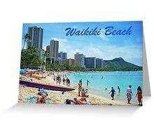 Waikiki Beach Card Greeting Card
