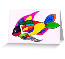 Geo fish Greeting Card