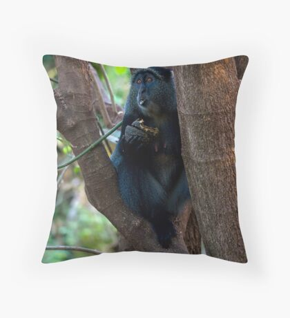 Diadem Monkey Throw Pillow
