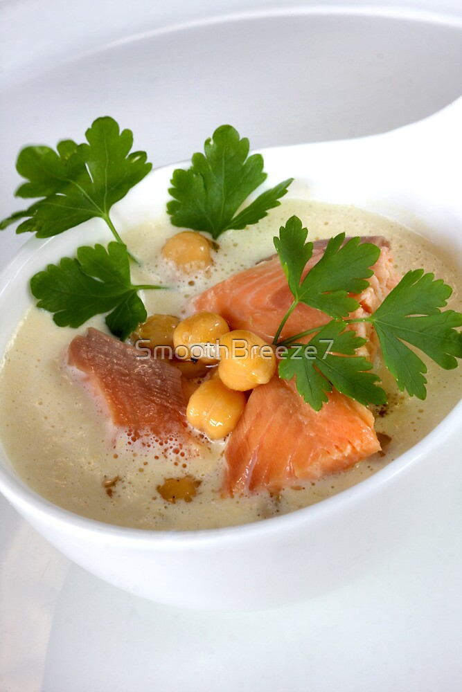 Smoked Char With Garbanzo Cream and Parsley by SmoothBreeze7