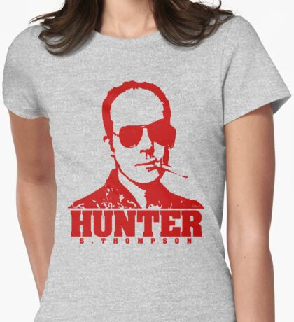 Mr Hunter S. Thompson (Red print) Womens Fitted T-Shirt