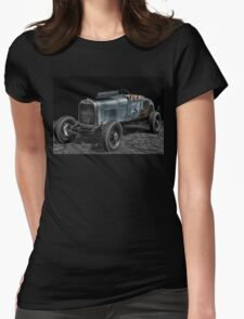 the old Hot Rod Racer Womens Fitted T-Shirt