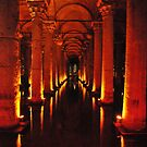 Basilica Cistern Istanbul by Louise Fahy