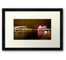 the landmark of sydney Framed Print