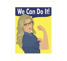 Felicity Can Do It! Art Print