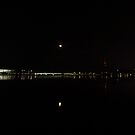 Evening View Down Lake Burley Griffin Canberra by Kym Bradley