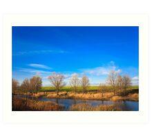 Autumn landscape in sunny day Art Print