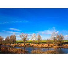 Autumn landscape in sunny day Photographic Print