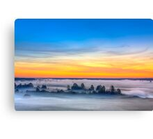 Beautiful Forest On Sunrise Canvas Print