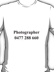Photographer Tee T-Shirt