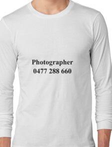 Photographer Tee Long Sleeve T-Shirt
