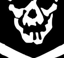 Skull Squadron (white skull) Sticker