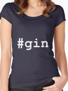 #gin Women's Fitted Scoop T-Shirt