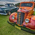 Fargo Hotrod and Chevrolet Truck by Cheryl Styles