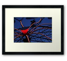 Carnival Ride Abstract Framed Print