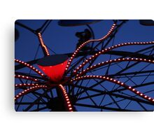 Carnival Ride Abstract Canvas Print