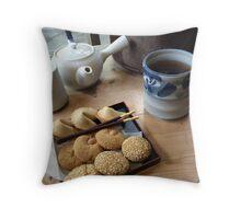 Japanese tea ceremony Throw Pillow