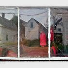 Window Reflection, Stonington, Maine by Dave  Higgins