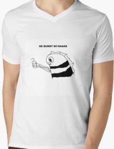 HE BURNT MY SHAKE Mens V-Neck T-Shirt