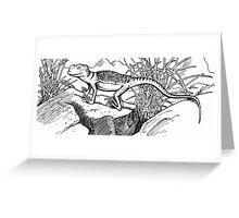 Happy Little Lizard Greeting Card