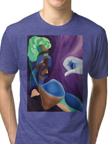 The Broccoli-haired man Tri-blend T-Shirt
