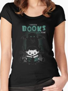 Forbidden Books can be Fun Women's Fitted Scoop T-Shirt