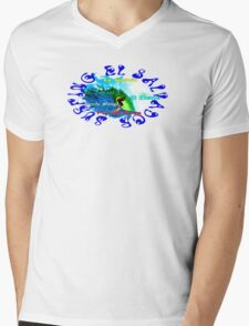 Surfing El Salvador Mens V-Neck T-Shirt