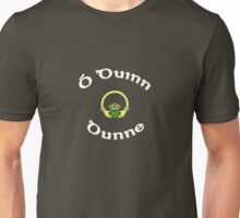 Dunne Surname - Dark Shirts with Claddagh Unisex T-Shirt