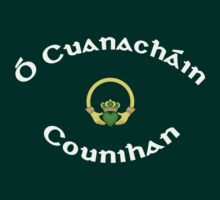 Counihan Surname - Dark Shirts with Claddagh by Mike Collins