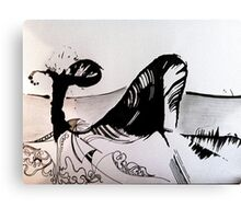Ink Whale Canvas Print