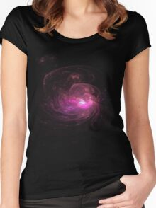 Apophysis Fractal Design - Pink Flower Women's Fitted Scoop T-Shirt